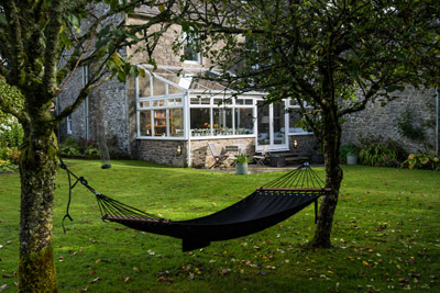 Kirkton House conservatory and hammock