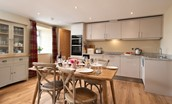 The Granary - kitchen and dining table