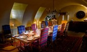Fenton Tower - atmospheric candle-lit suppers in the vaulted dining room