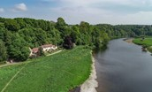 The Boathouse - aerial by River Tweed