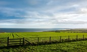 Teals Cottage - far reaching views of rolling farmland and the Northumberland Coast