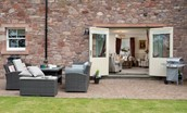 Dryburgh Steading Two - outside seating area