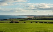 Teals Cottage - far reaching views across farmland to the Northumberland coast and the beach at Cocklawburn
