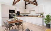 The Smithy at West Lyham - kitchen and dining area