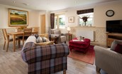 Dryburgh Steading Two - open-plan kitchen and living area
