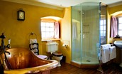 Fenton Tower - The Erskine en suite with French bespoke copper bath